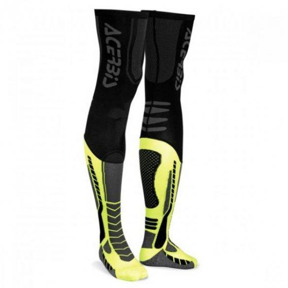 Acerbis cross zokni - X-Leg Pro - fekete/sárga