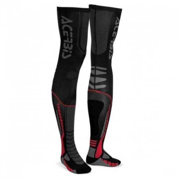 Acerbis cross zokni - X-Leg Pro - fekete/piros