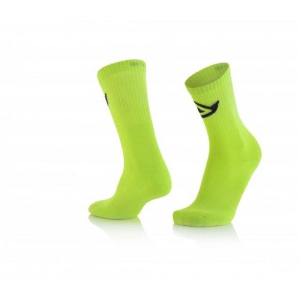 Acerbis pamut cross zokni - sárga