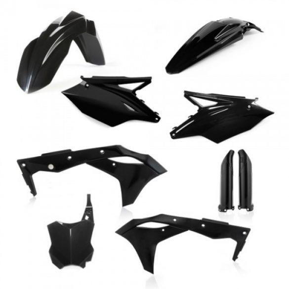 Acerbis teljes idomszett -  KAWASAKI KXF 250 17/20 - fekete
