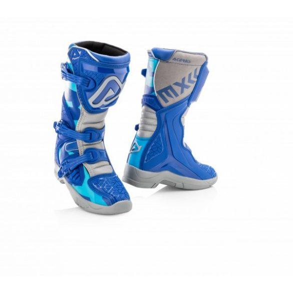 Acerbis gyerek cross csizma - X-Team Junior - kék/szürke